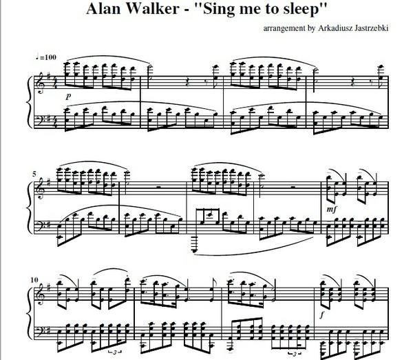 Allan Walker - Sing me to sleep (Advanced)