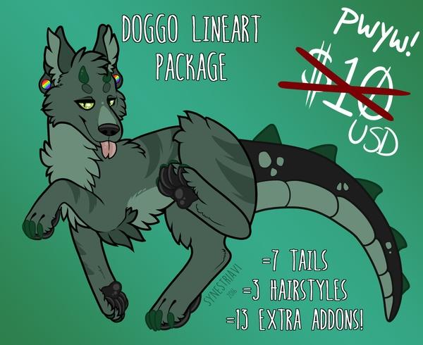 Doggo Lineart Package!
