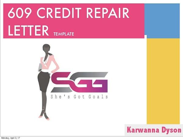 Basic Credit Repair Letter Template