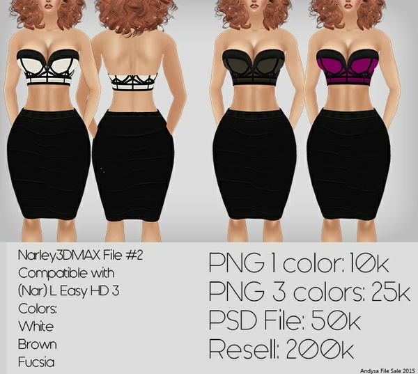 IMVU TEXTURES File #2 ALL COLORS Compatible with: (Nar) L Easy HD 3