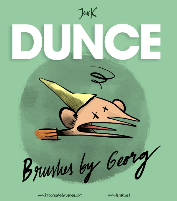 JensK's DUNCE Brushes: 25+ Rough Sketch, Messy Ink & Dry Shading Brushes for Procreate 4
