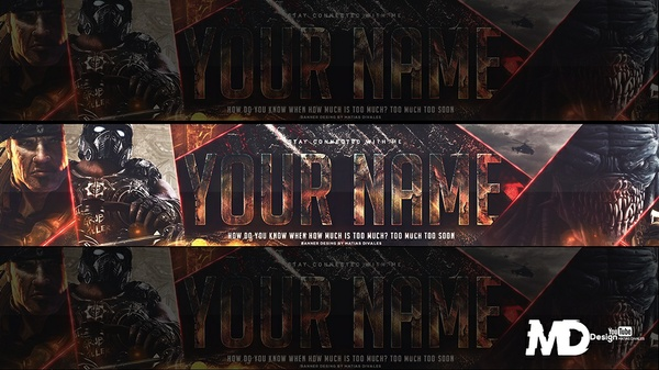 Banner Gears of war | Psd Free Download  | By Matias Divales |