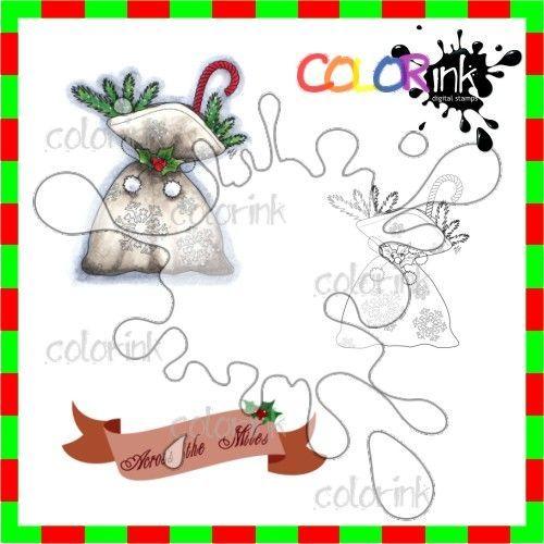 Ornament 7 and sentiment Digi stamp