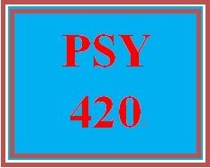 PSY 420 Week 5 Self-Management Paper