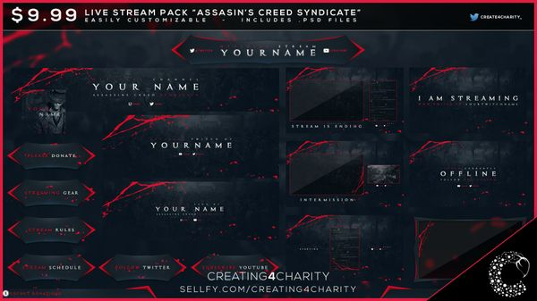 """Assassin's Creed Syndicate"" pre-made livestream pack!"
