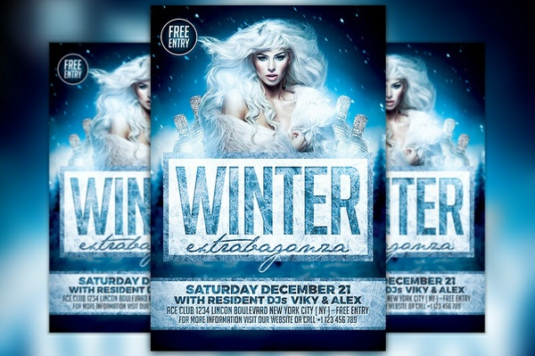 Elegant Winter Party Flyer Template