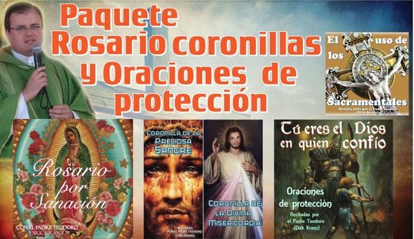 Paquete Rosario, Coronillas, y oraciones de Protección