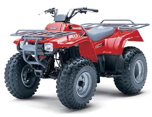 KAWASAKI KLF 250, BAYOU 250, WORKHORSE 250 ATV SERVICE REPAIR MANUAL 2003-2005 DOWNLOAD
