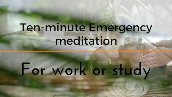 STRESS LESS 10 minute Emergency meditation for work or study (with ASMR head & shoulder massage)