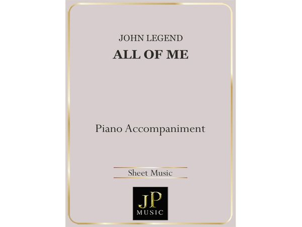 All Of Me - Piano Accompaniment