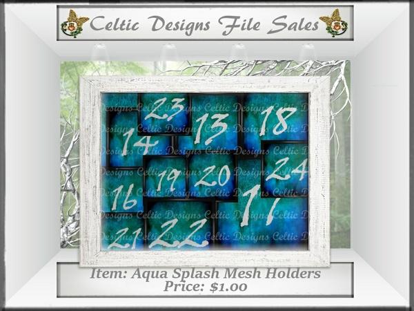 CD Aqua Splash Mesh Holders