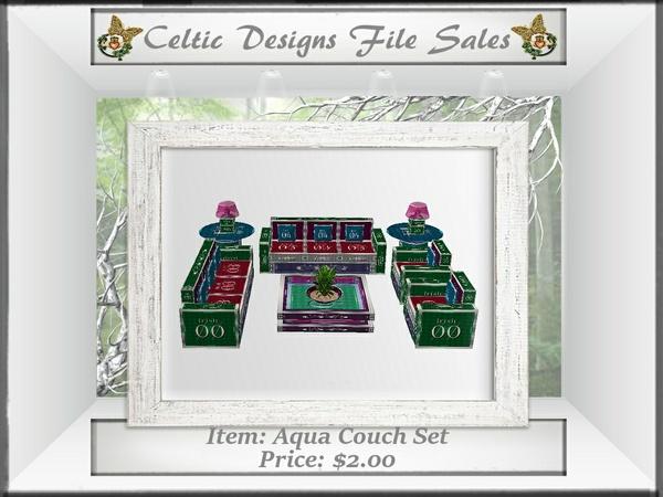 CD Aqua Couch Set