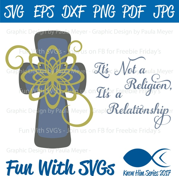 Not Religion, Relationship - SVG Cut File, High Res Printable Graphics and Editable Vector Art