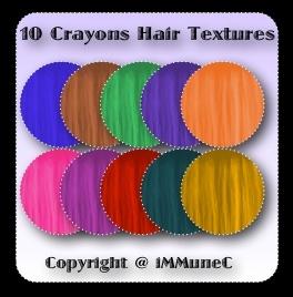 10 Crayons Hair Textures