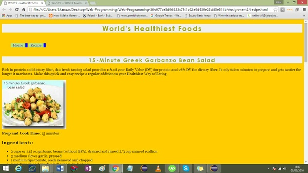 create two XHTML web pages and a CSS file