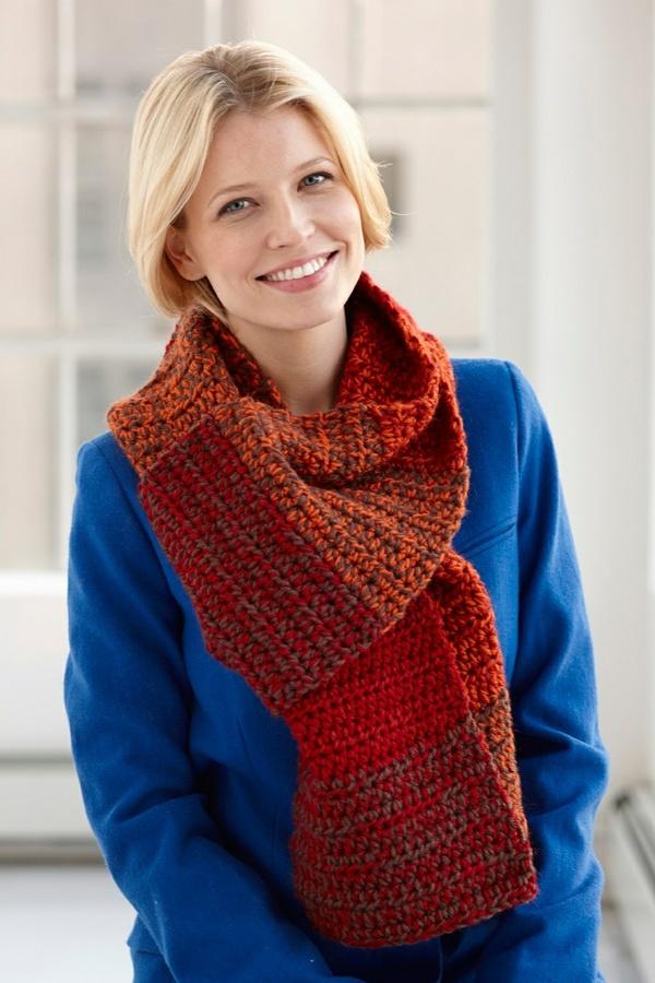 Crochet Blended Scarf