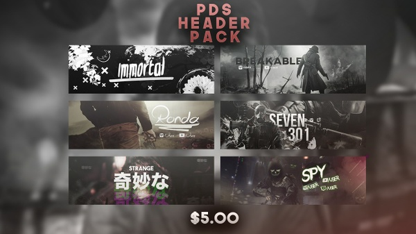 Psd Twitter Header Pack