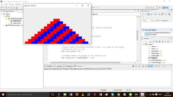 Write a class named Legos1 extending the JFrame
