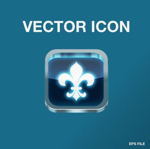 Vector steel app icon