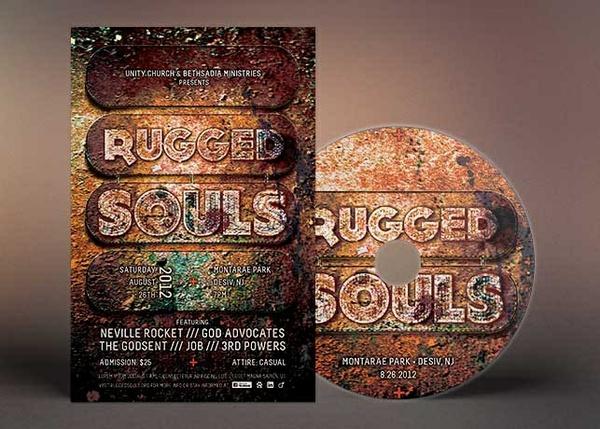 Christian Rock Concert Flyer CD Template