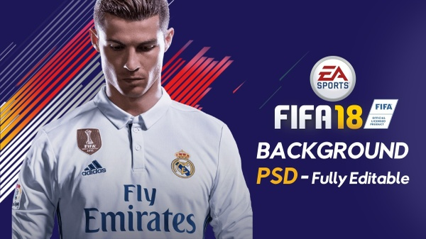 FIFA 18 BACKGROUND | JPG with PSD | FULLY EDITABLE
