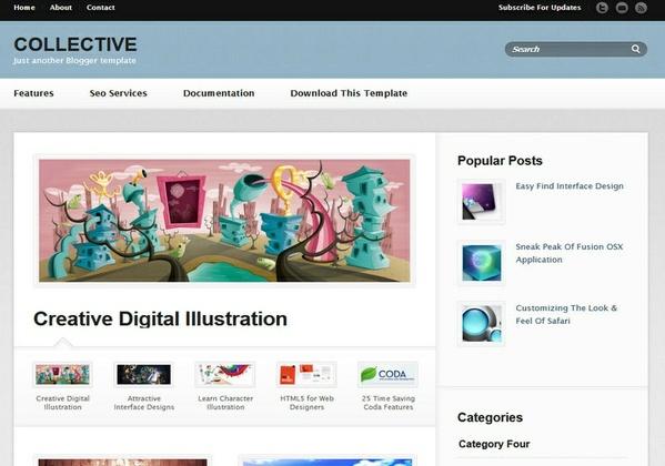 Collective Blogger Template Premium Version