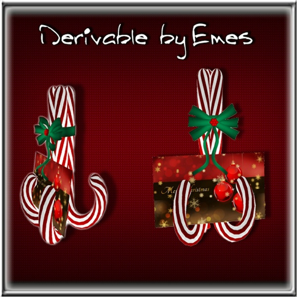 MESH-Candy Cane Card Decor