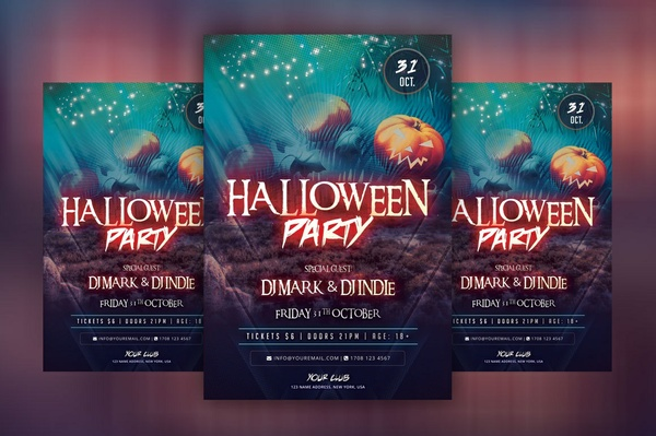 Halloween Party - PSD Flyer