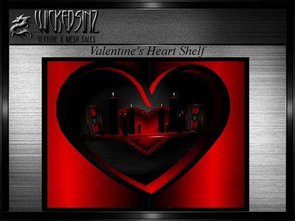 Valentine Heart Shelf MESH - $5.00