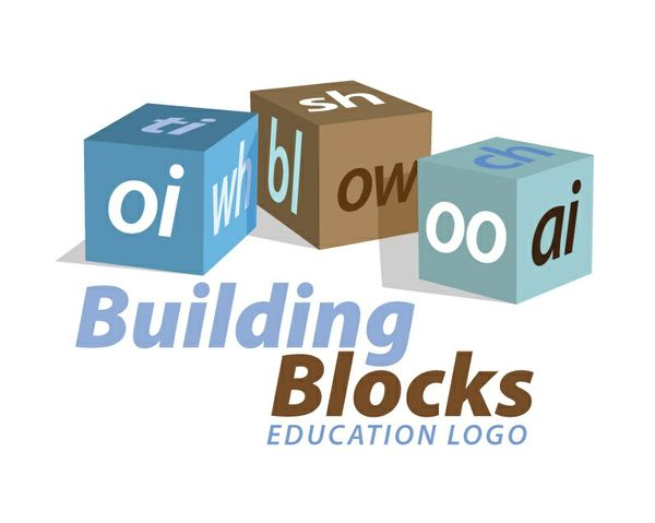 Building blocks educational logo 1