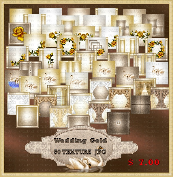 WEDDING GOLD TEXTURE  ROOM