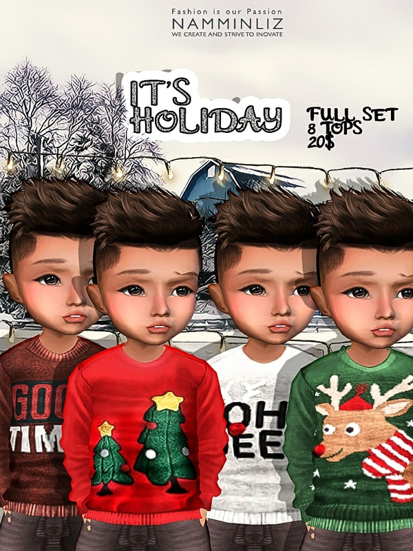 It's Holiday Full Set 8 tops imvu textures JPG NAMMINLIZ life sale