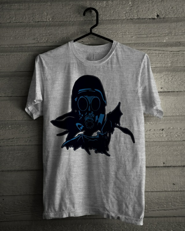 T-shirt Design 'Blue Mask Soldier'