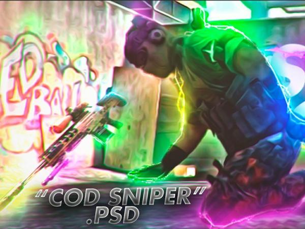 """COD Sniper"" Template PSD -Aleo."