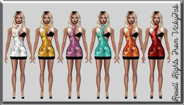 Layla Sparkly Dress Catty Only!!!
