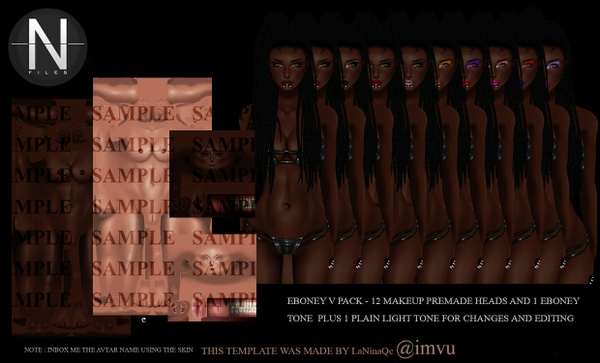 Ebony V Skin Pack - Png flats only