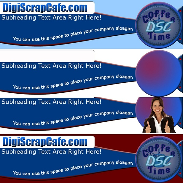 Professional Website Header Package PSD Photoshop Commercial Use Graphics Template