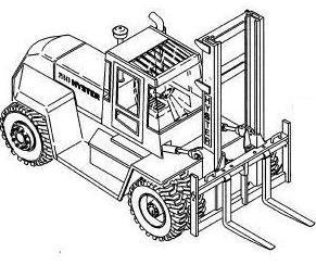 Hyster Forklift Truck D007 Series: H8.00XL, H9.00XL, H10.00XL, H250XL, H12.00XL Spare Parts List