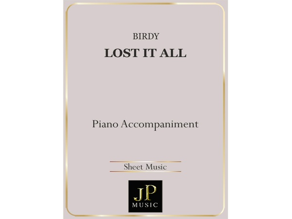Lost It All - Piano Accompaniment