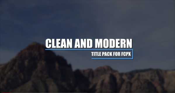 AV-Ultra Clean Modern  4K Title Pack for Final Cut Pro X