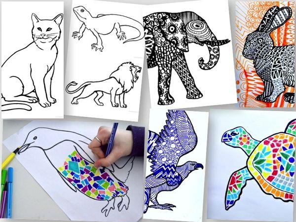 10 Templates of Animals