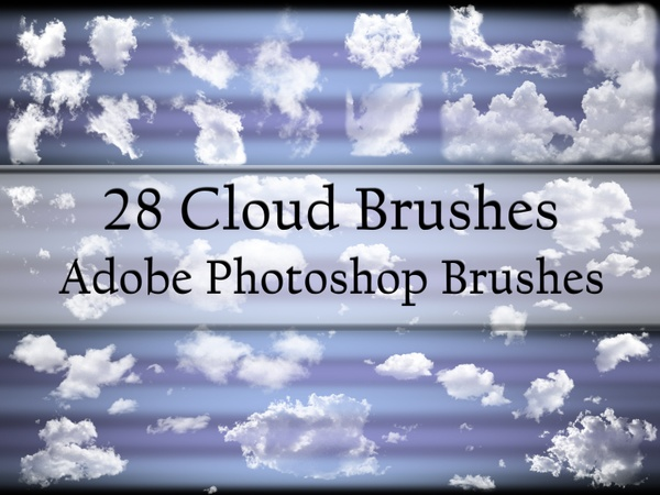 28 Cloud Brushes for Photoshop