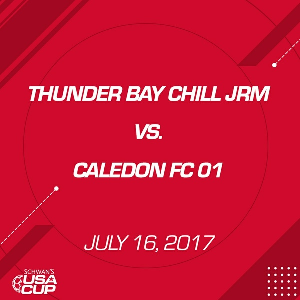 Boys U16 - July 16, 2017 - Thunder Bay Chill JRM V. Caledon FC 01