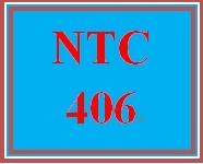 NTC 406 Week 2 Individual: TCP/IP Network