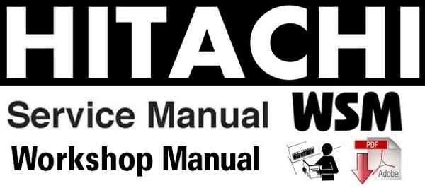 Hitachi Zaxis 130w Wheeled Excavator Workshop Manual