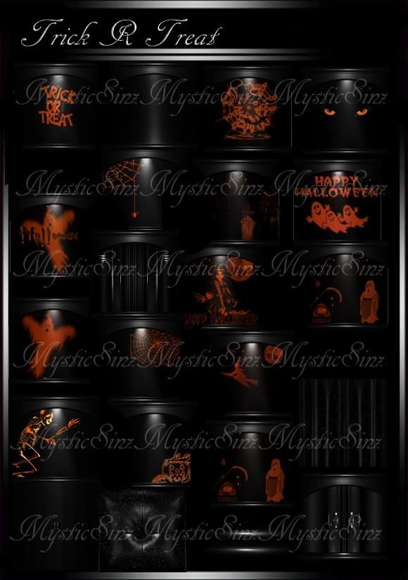 Trick R Treet Halloween Room Textures IMVU