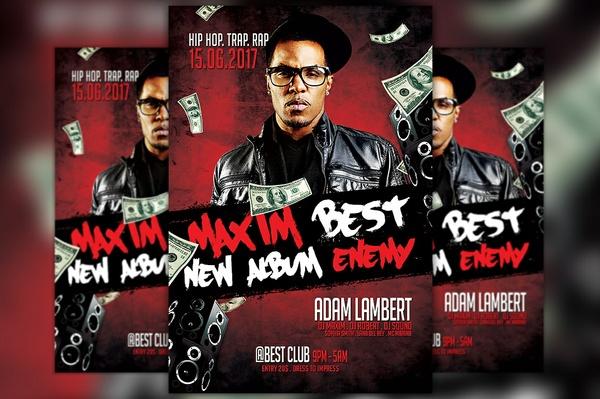 Hip Hop Album Release Party Flyer Template