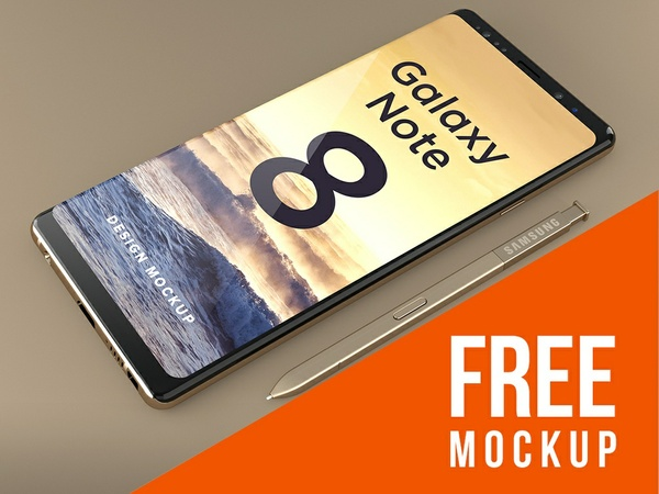 FREE Samsung Galaxy Note 8 Design Mockup