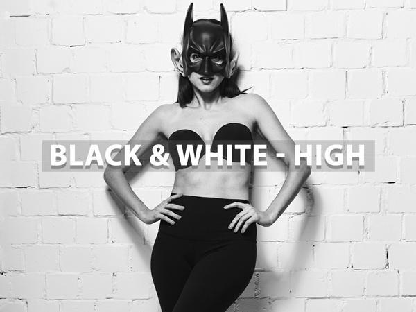 """Black & White - High"" - Lightroom Preset"