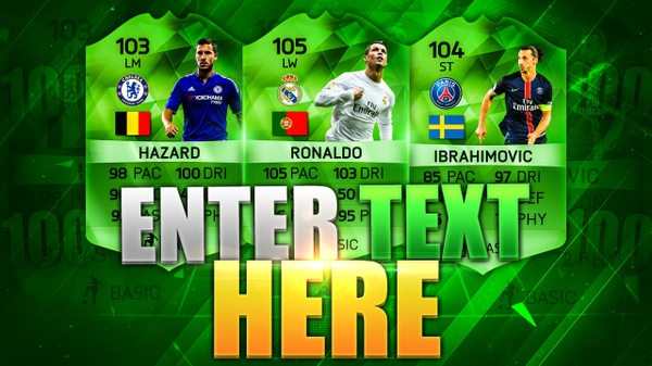 FIFA 16 100 RATED PLAYERS THUMBNAIL TEMPLATE